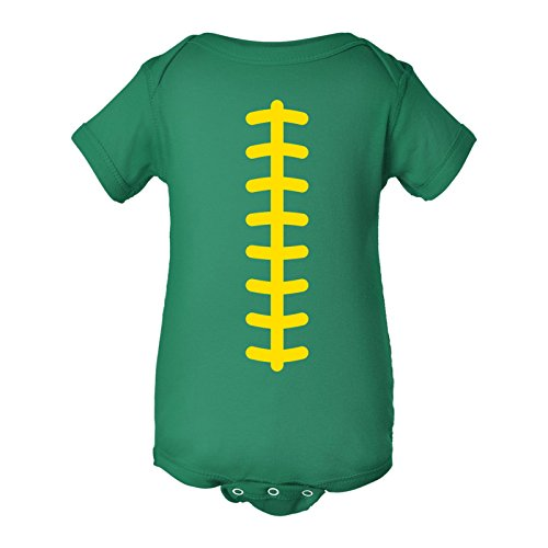- UGP Campus Apparel Football Team Colors Infant Creeper Bodysuit - Newborn - Kelly/Yellow