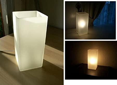 Ikea Grono Frosted Glass Table Lamp In White Amazon Co Uk Lighting