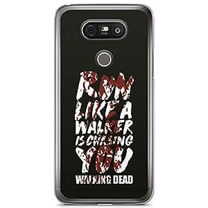 LG G5 Transparent Edge Case The Walking Dead Walker Chasing