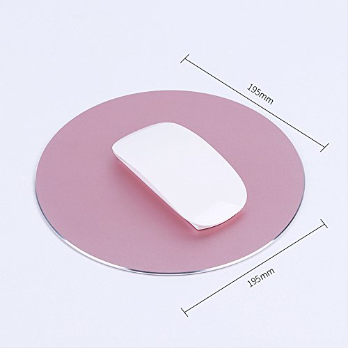 Mouse Packard Hewlett Laser (Refaxi Circular Professional Aluminum Alloy Non-Slip Mouse Pad for MacBook Apple HP Computer New (Rose Gold))