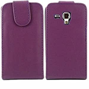 Flip Case Cover Skin For Samsung Galaxy Mini S3 i8190 / Purple