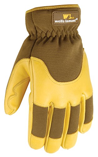 Men's Winter Work Gloves, Insulated Deerskin, 100-gram Th...