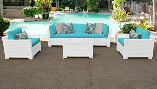 TKC Monaco - Juego de 6 sofás de mimbre para patio, color ...