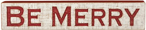Primitives By Kathy 26 Inches x 5.25 Inches Be Merry Carved Sign Home (Primitive Halloween Wood Crafts)