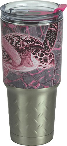 River's Edge Guy Harvey ss Tumbler-Turtle Sports Water Bottles, Brown/Pink, 32 oz