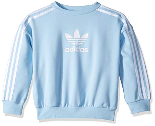 adidas Originals Girls' Big Cc Crew, Multi/White, Small