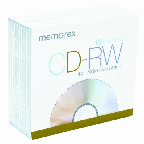 Imation Memorex 700MB/80-Minute 4x CD-RW Media (10-Pack w...