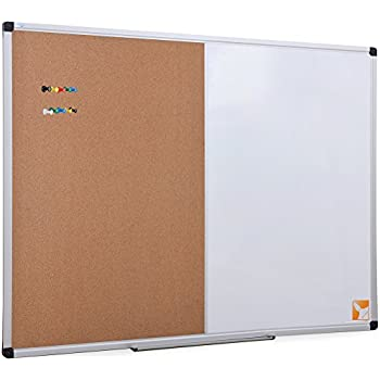 magnetic bulletin board diy paper border inch dry erase cork combo whiteboard aluminum frame colorful push pins marker tray included