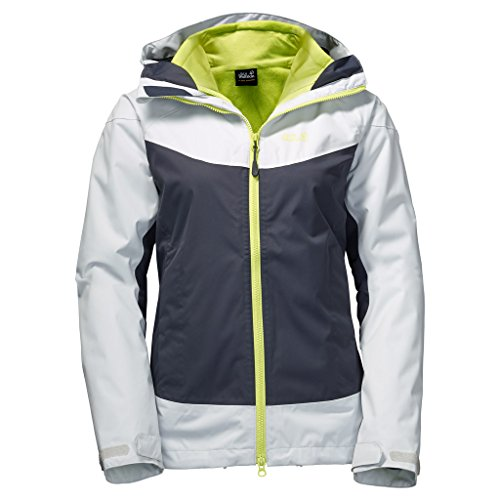 Jack Wolfskin Women's North Ridge 3-in-1 Jacket, Ebony, (1 Gore Tex Jacket)