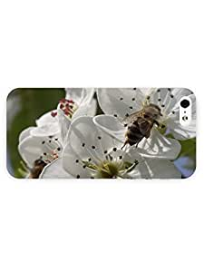 3d Full Wrap Case For HTC One M7 Cover Animal Bee On A Pear Blossom93