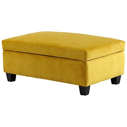 Cyan Design 08351 Aldous Ottoman,Yellow