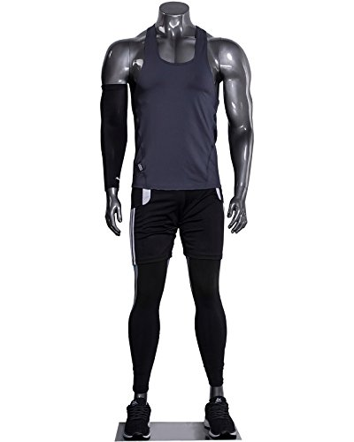 Muscular Male Athletic Headless Silver Mannequin by Only Garment Racks