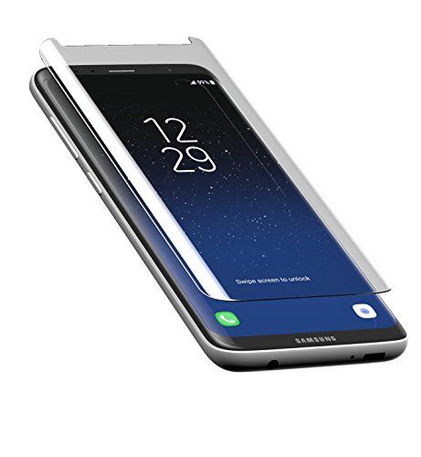 ZAGG InvisibleShield Premiere Glass Curve Screen Protector for Samsung Galaxy S8 - Scratch Resistance Tempered Glass (Invisibleshield Glass Curve For The Samsung Galaxy S8)