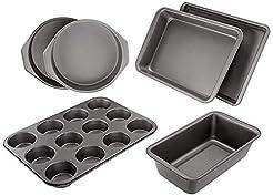 AmazonBasics 6-Piece Nonstick Oven Bakew...