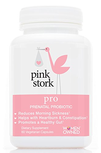 Pink Stork Pro: Pregnancy Probiotic -For Morning Sickness & Gut Health -Developed for Pregnancy -Good Bacteria for Digestive & Immune Health -For Relief from Heartburn, Constipation & more