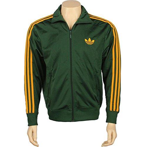 Adidas Adi Firebird hombre 's Track Jacket Dark verde / Craft Gold