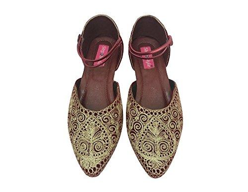 Stap N Stijl Indiase Schoenen Punjabi Jutti Bruids Schoenen Khussa Schoenen Mojari Saree Jooti