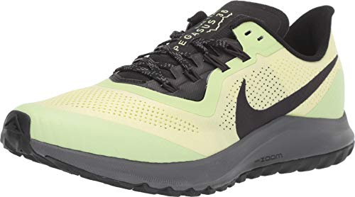 Nike Air Zoom Pegasus 36 Trail Men's Running Shoe Luminous Green/Burgundy ASH-Black Size 9.0