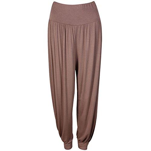 cfa317aba228e 22 8 Femme PrettyFashion Baba jambières long Ali Harem Mocha Pantalons  Baggy Mesdames taille Pantalon Harem ...