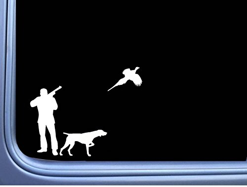 Pheasant German Shorthaired Pointer J867 8 inch Sticker dog -