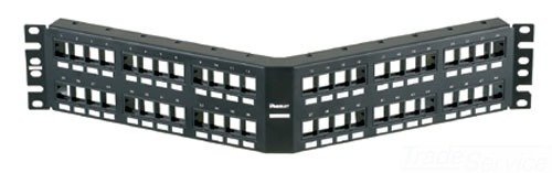 Panduit NKPPA48FMY Angled Category-6 48-Port Modular Patch Panel, Black