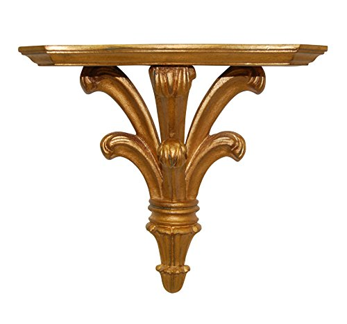 Hickory Manor House Prince William Bracket Decor, Small, Gold Leaf