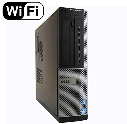 Dell Optiplex 7010 SFF Premium Flagship Business Desktop Computer (Intel Quad-Core i7-3770 3.4GHz, 8GB RAM, 240GB SSD, DVD, VGA, DisplayPort, WiFi, Windows 10 Professional) (Certified Refurbished) by Dell