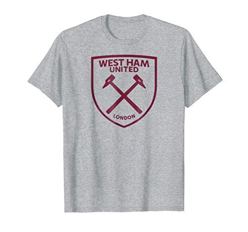 (West Ham United Maroon Crest T-Shirt Heather)
