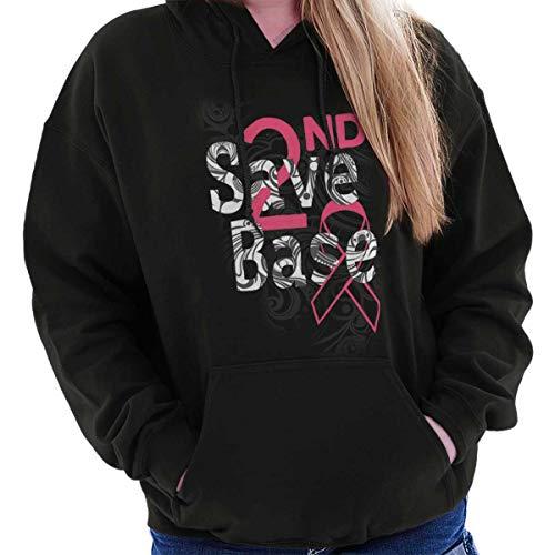 Classic Teaze Save 2nd Base Breast Cancer Awareness BCA Hoodie Black ()