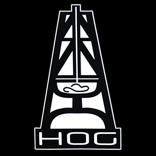 Hooey Hog PREMIUM Decal 5 inch White | Oil Rig | Oil Field | Ruff Neck | Red Neck | Cowboy | Car Truck Vam Laptop Macbook Bumper Sticker