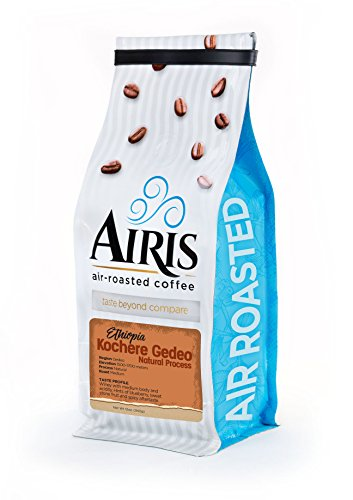 Ethiopian Kochere Gedeo Coffee, Natural Process, Whole Bean, AIR ROASTED COFFEE by Airis Coffee Roasters (12oz)