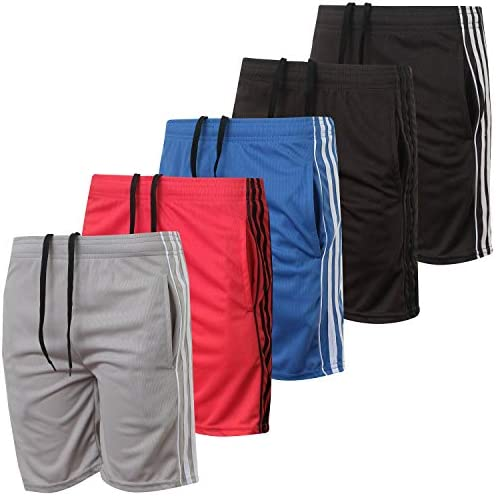 Mad Game Boys Athletic Performance Basketball Shorts 4 Pack