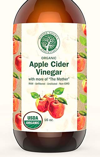 Apple Cider Vinegar Organic USDA, 6% Acidity, Pure, Undiluted, Raw & Unfiltered Leaving More of