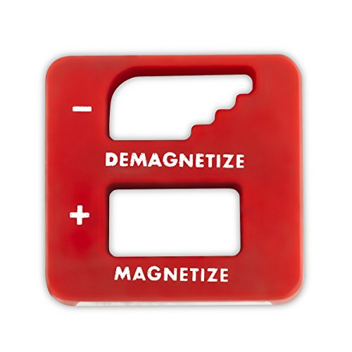 Katzco Red Precision Demagnetizer/Magnetizer - For Screwdrivers, Small Tools, Small and Big Screws, Drills, Drill Bits, Sockets, Nuts, Bolts, Nails And Construction Tools