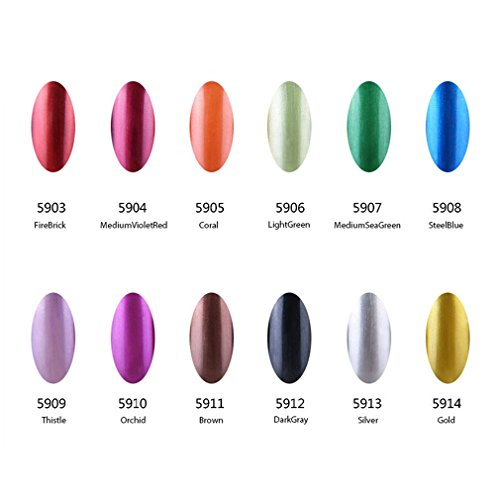 Gel Nail Polish Qatar: Qimisi Metallic Gel Nail Polish UV LED Manicure Metal