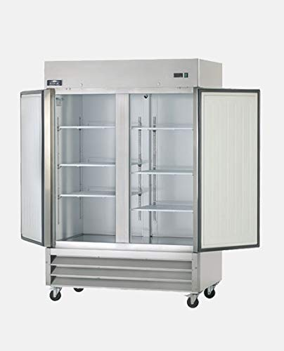Arctic Air AR49 54″ Two Section Solid Door Reach-in Commercial Refrigerator – 49 cu. ft.