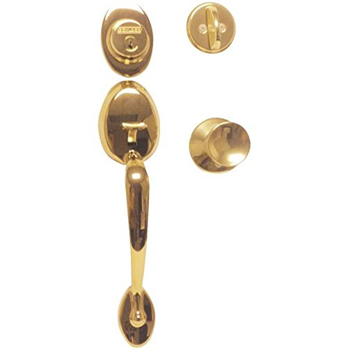 Bel 605 Bell (Plymouth Single Cylinder Handleset and Bell Knob, Bright Brass (F60 V PLY 505 BEL)