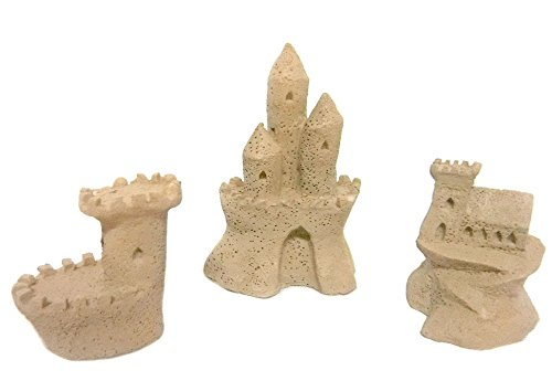 Miniature Fairy Garden Sandcastle Sculptures, Set of 3