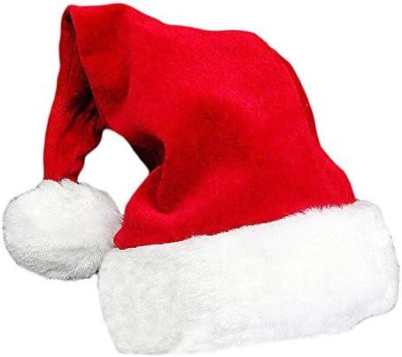B Cappelli Natalizi Babbo Natale Cappelli Ispessito Caldo Morbido Natale Ornamenti Cappello da Pupazzo di Neve Cappellino Festa di Natale WELLXUNK Cappello Babbo Natale