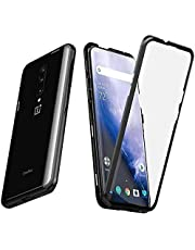 Case for OnePlus 7 Pro, Magnetic Adsorption Case for Front and Back Tempered Glass Full Screen Coverage One-Piece Design Flip Cover OnePlus 7 Pro Case for