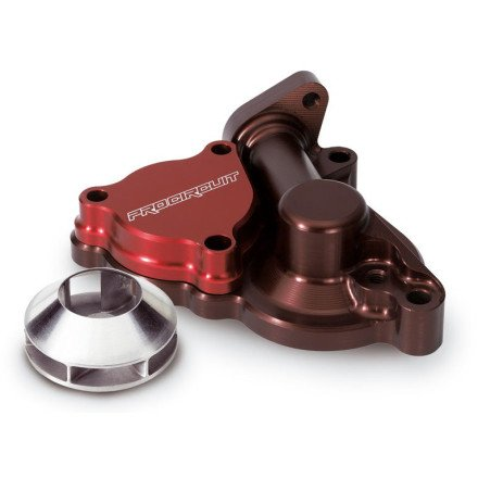 Pro Circuit Oil - 04-18 KAWASAKI KX250F: Pro Circuit Water Pump/Oil Filter Cover With Impeller (RED)