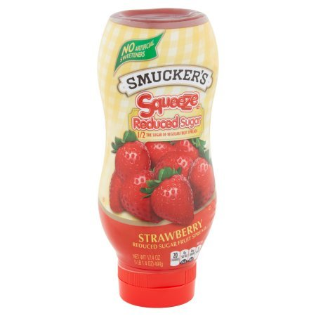 PACK OF 12 - Smucker's Squeeze Strawberry Reduced Sugar Fruit Spread, 17.4 oz by Smucker's (Image #3)