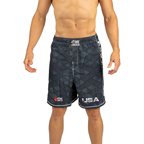 4-Time All American Black Diamond Fight Shorts Size L ()