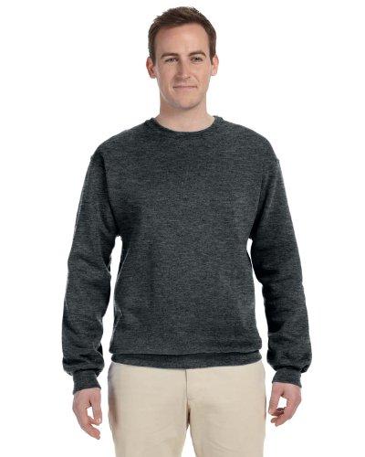 Mens Soft Crewneck Sweatshirt By Jerzees  Black Heather  4X Large