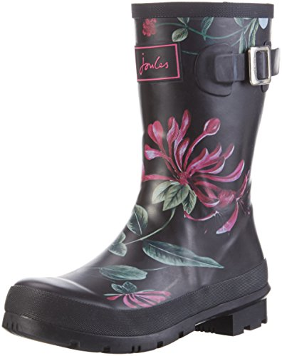 Joules Womens Molly Welly Rain Boot Black (blkhdge)