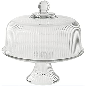 Anchor Hocking Monaco Ribbed Glass 2-in-1 Cake Plate and Punch Bowl  sc 1 st  Amazon.com & Amazon.com | Anchor Hocking Monaco Ribbed Glass 2-in-1 Cake Plate ...