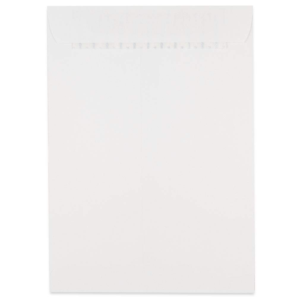 JAM PAPER 9 x 12 Open End Catalog Commercial Envelopes with Peel and Seal Closure White 50//Pack
