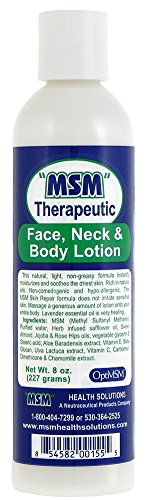 MSM Therapeutic Face, Neck & Body Lotion 8 oz Squeeze Bottle