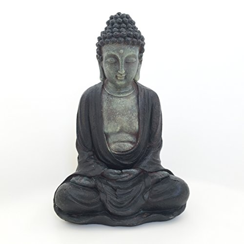 Whole House Worlds Seated Garden Buddha 11 Inches high from Our Serenity Collection by by Whole House Worlds