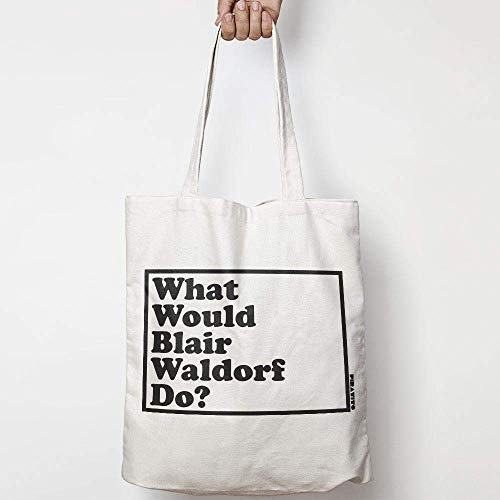 - WHAT WOULD BLAIR WALDORF DO? WWYD natural cotton canvas tote bag GOSSIP GIRL